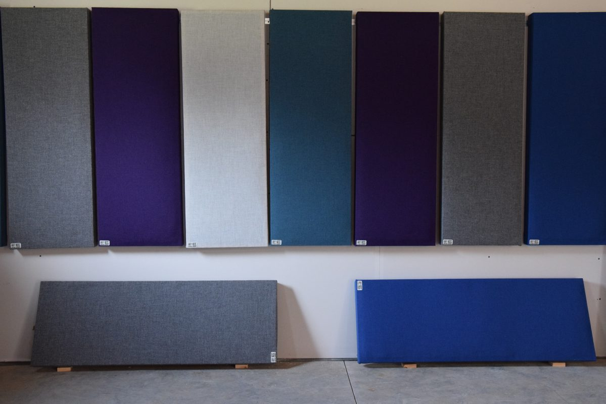 Multi Coloured Acoustic Treatment Panels